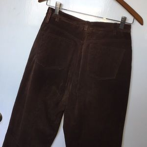 Brown or black genuine leather high-waisted pants